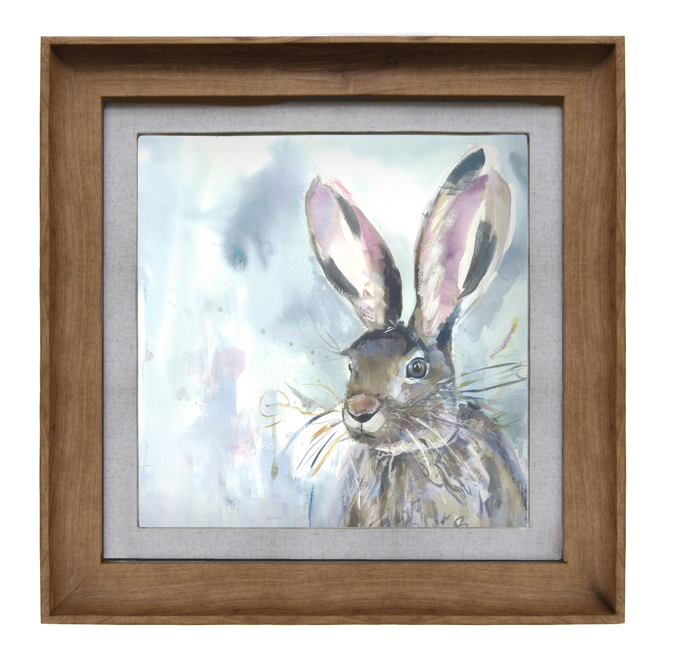 Harriet Hare Wall Art 46x46cm