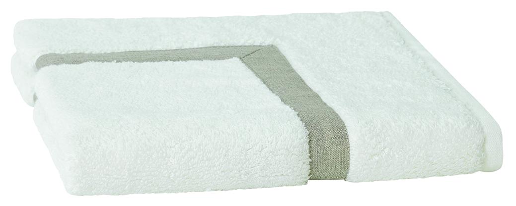 Linen Border Bath Mat 50x70