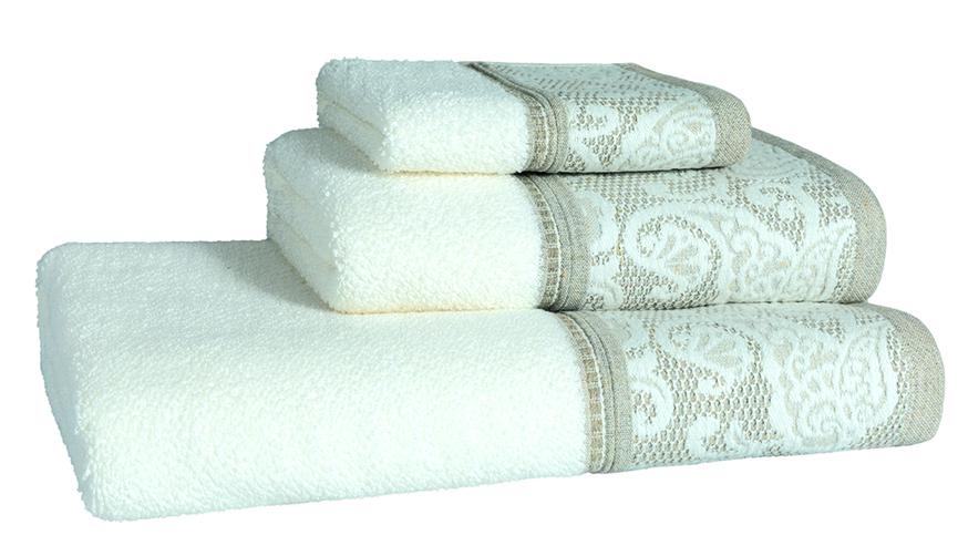 Milano Natural Bath Linen - Finger Towel 30x50, Guest Towel 50x100, Bath Towel 70x140, Bath Sheet 100x150