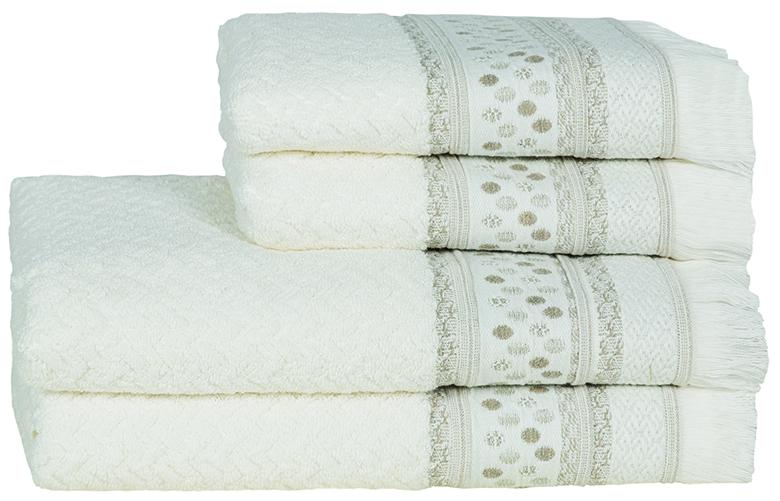 Novo Ponto Natural Bath Linen - Finger Towel 30x50, Guest Towel 50x100, Bath Towel 70x140