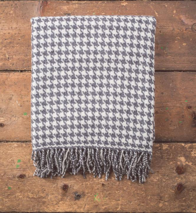 Oxford Houndstooth Lambswool Throw 75x100cm