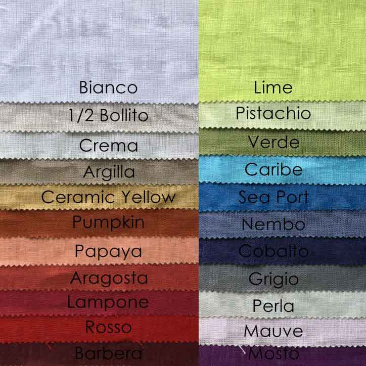 Tiziano Linen Tablecloth Available in 22 Colours, comes with Set of Napkins