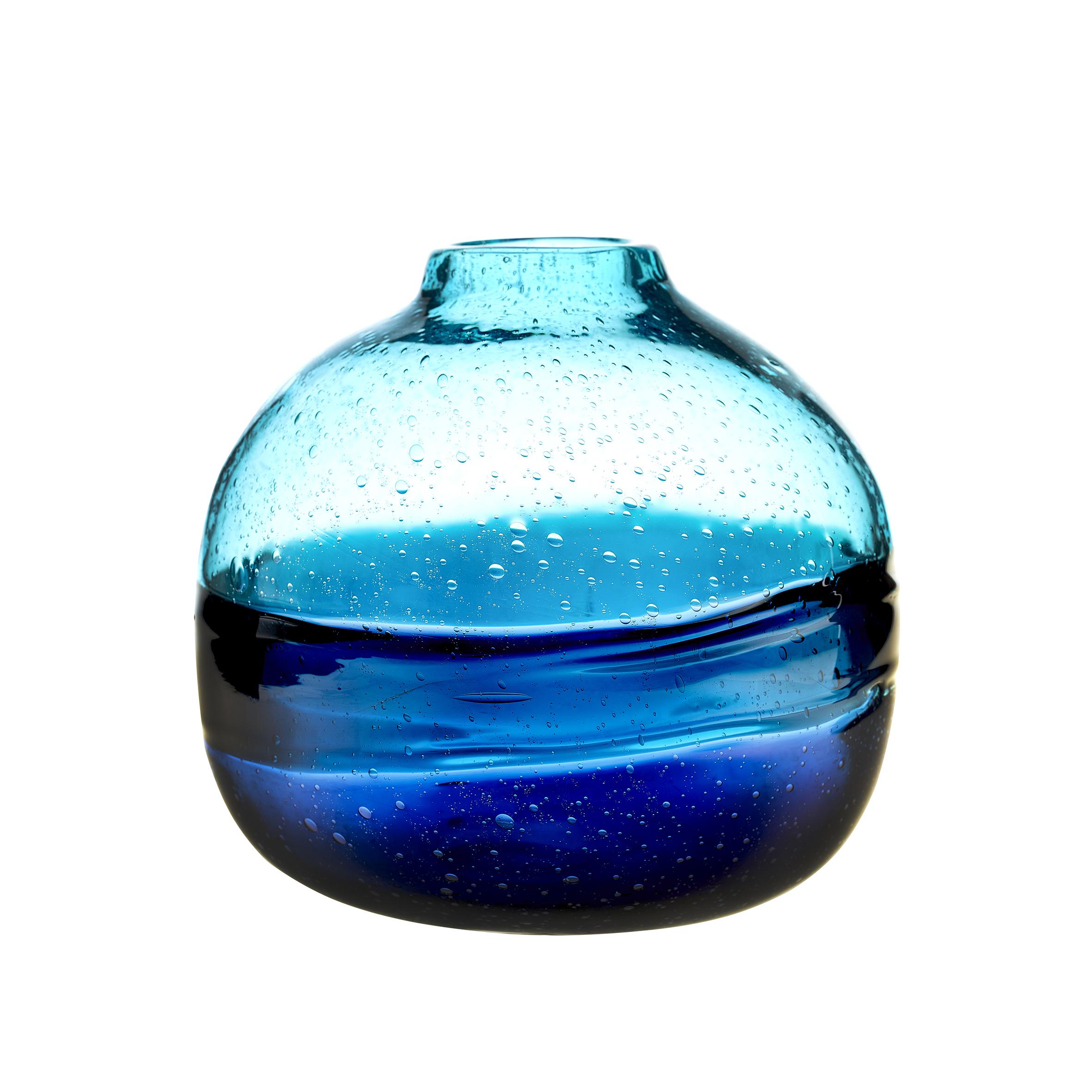 Chandre Round Vessel Cobalt Vase 22x20cm
