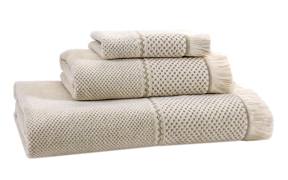 Velour Jacquard Natural Bath Linen - Facecloth 30x30,  Finger Towel 30x50, Guest Towel 50x100, Bath Towel 70x140, Bath Sheet 100x150