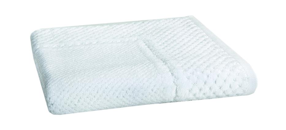 Velour Jacquard White Bath Mat 50x70