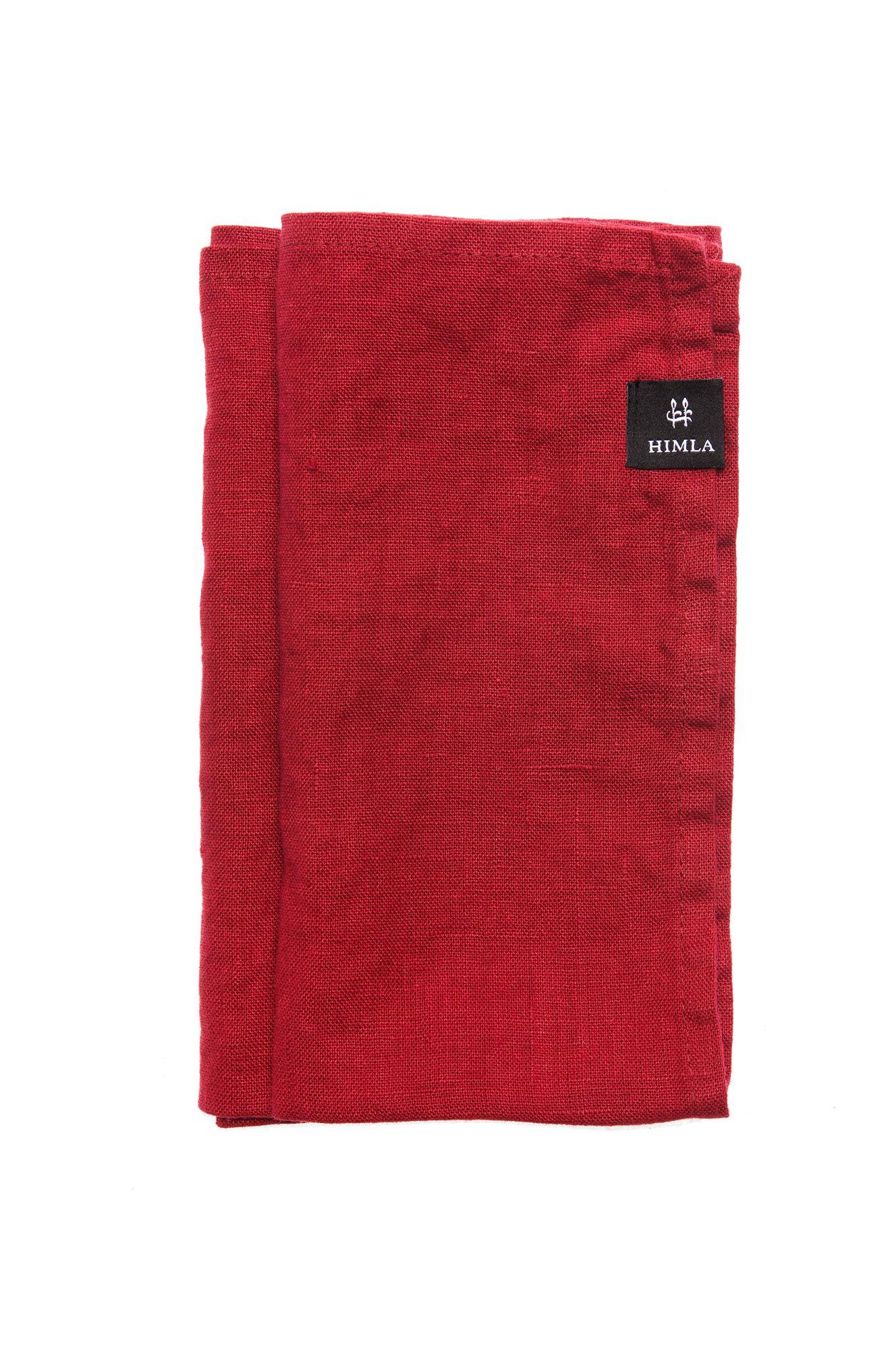 True Red Sunshine Linen Napkin 45x45cm (Set of 4)