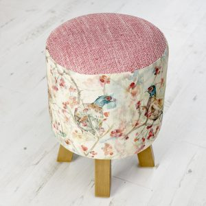 Blackberry Row Linen Stool 25x45cm
