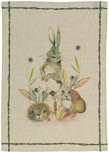 Fattoria Rabbits Tea Towel 50x70cm