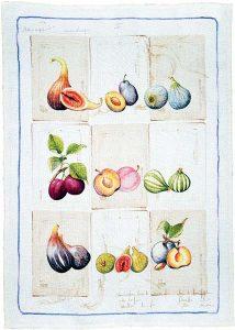 Herbario Purple Linen Tea Towel 50x70cm