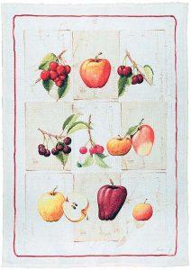 Herbario Red Linen Tea Towel 50x70cm