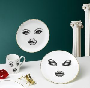 The Provocateur Plate, Prima Donna Plate & Performer Mug.