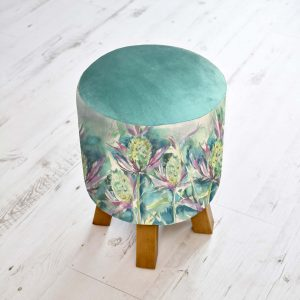 Sea Thistle Linen Stool 25x45cm