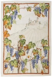 Violetta Cabernet Linen Tea Towel 50x70cm